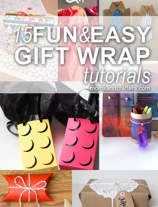 Free Silhouette Lego Gift Box/Bag file  15 Fun & Easy Gift Wrap Tutorials for children and adults. Perfect for your holiday gift wrapping needs, these craft and DIY gift wrap ideas are easy to make and fun to create!