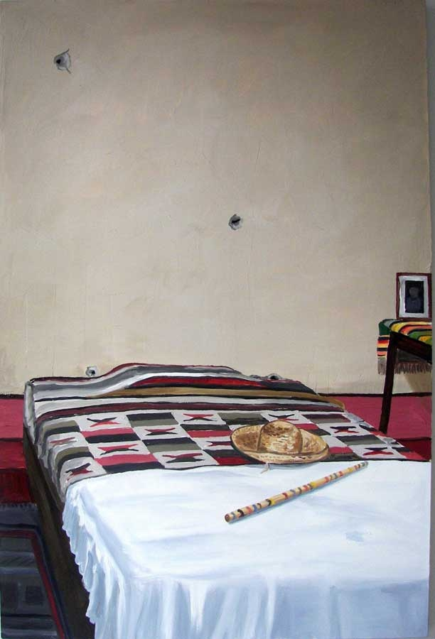 Richard Bosman  Trotsky's Bed  2009  Oil on canvas  72 x 48 inches