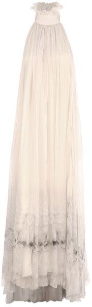 ALEXANDER MCQUEEN Iris Chiffon Print Dress   dressmesweetiedarling