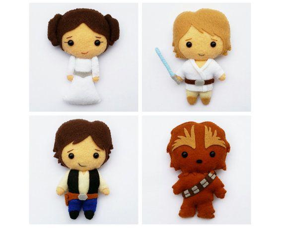 Star Wars Luke Skywalker la Princesse Leia Han Solo
