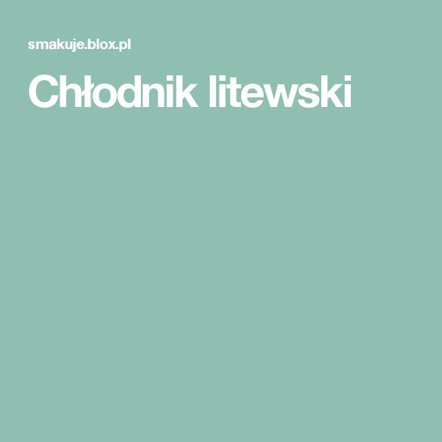 Chłodnik litewski