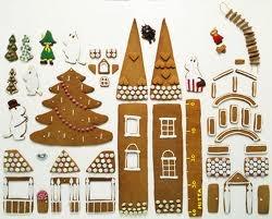 moomin gingerbread house parts