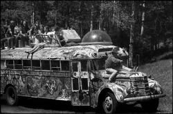 Ken Kesey on His Bus, Further  Photograph by Lisa Law  1969