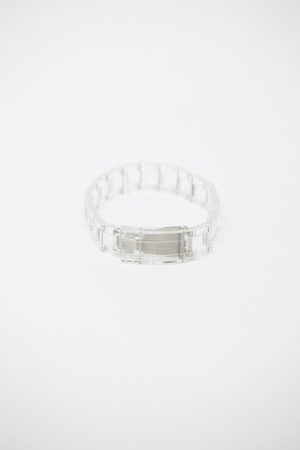 ANN-SOFIE BACK, LINK BRACELET: clear plastic watch band! officially wish-listed.