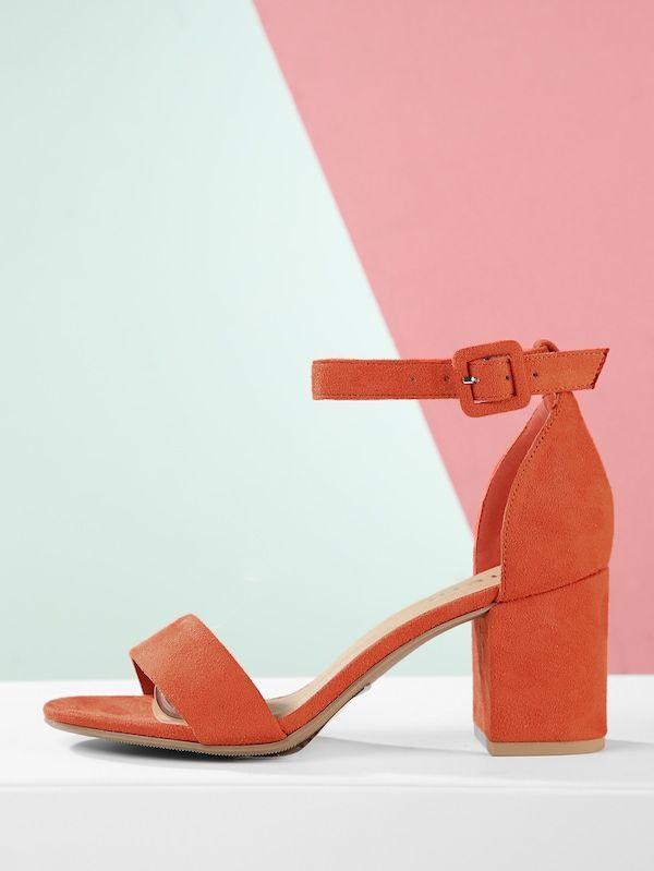 310d481fede41a Open Toe Ankle Strap Chunky Heel Sandals -SheIn(Sheinside)  AnklestrapsHeels