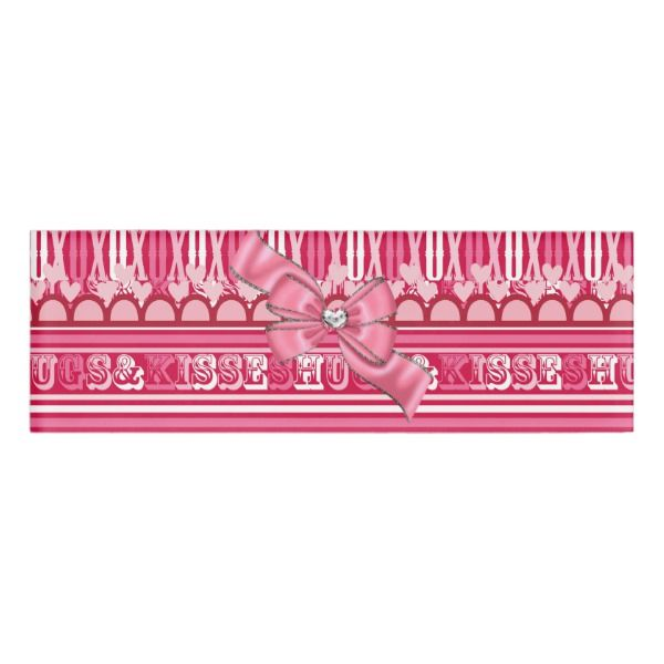 Pink Valentines Hugs & Kisses Name Tag Custom nametags #teacher #tutor #business #nametags #officesupplies