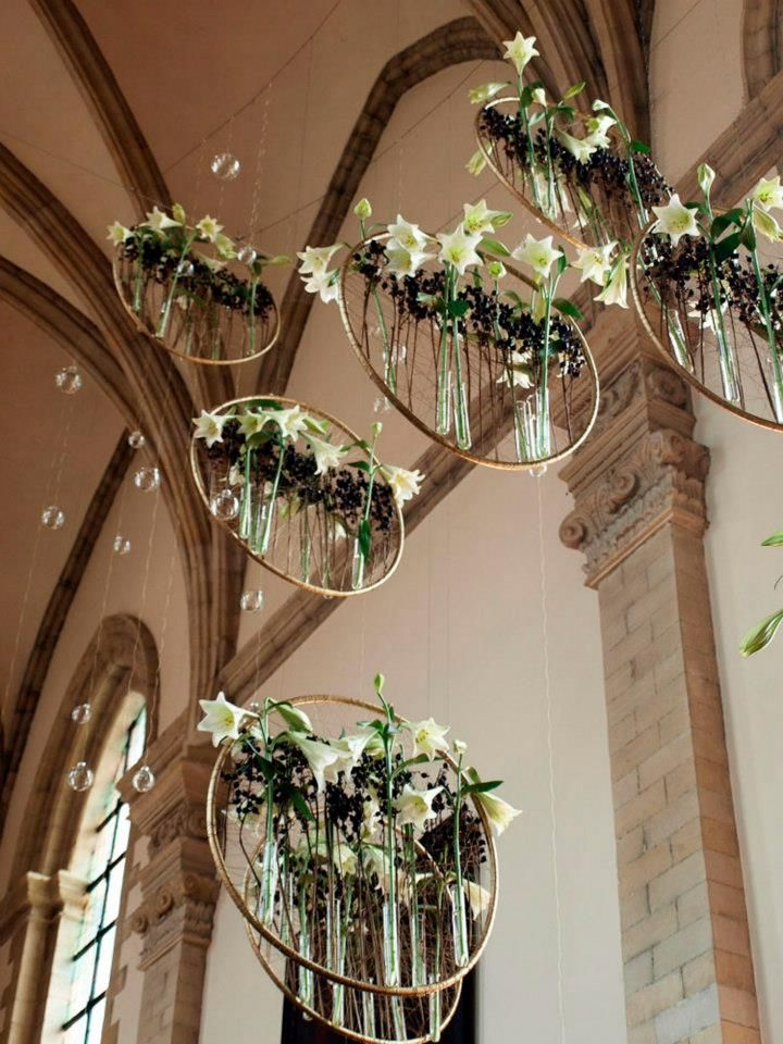 hanging wedding florals