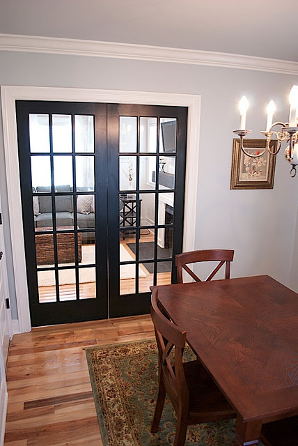 16 best images about dining room ideas on pinterest for Dining room ideas with french doors