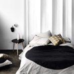Big Spot Black Single bed quilt cover