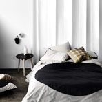 Big Spot Black Single bed quilt cover