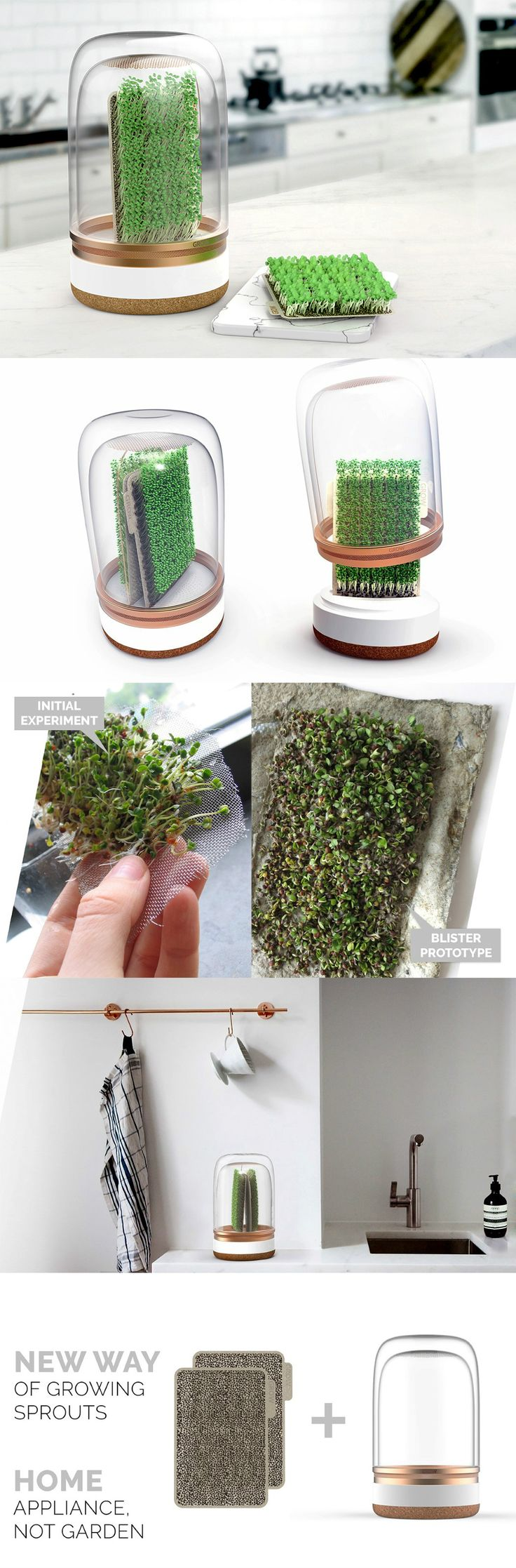This isn't a planter. You've been warned. The 'Grow' is much more complex than that. Designer Malgorzata Blachnicka compares it to a kitchen tool/appliance, much like a bread knife, or a blender. Read Full Story at Yanko Design`