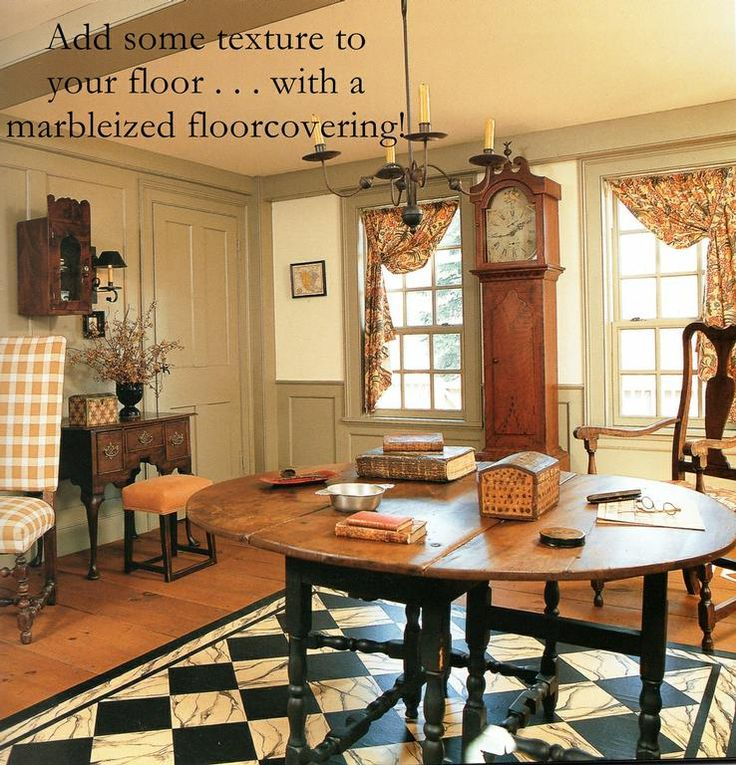 American Colonial Interiors: Colonial Floor Cloths - Google Search