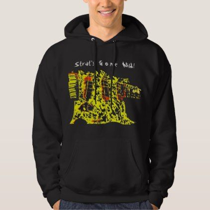 Strat Stratocaster Guitar Hoodie Hooded Sweatshirt - logo gifts art unique customize personalize