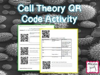 This QR Code Cell Theory Scavenger Hunt will be a great addition to any science class. Student will use a QR Reader App to scan the codes that will lead them to kid friendly science pages that focus on the cell theory.