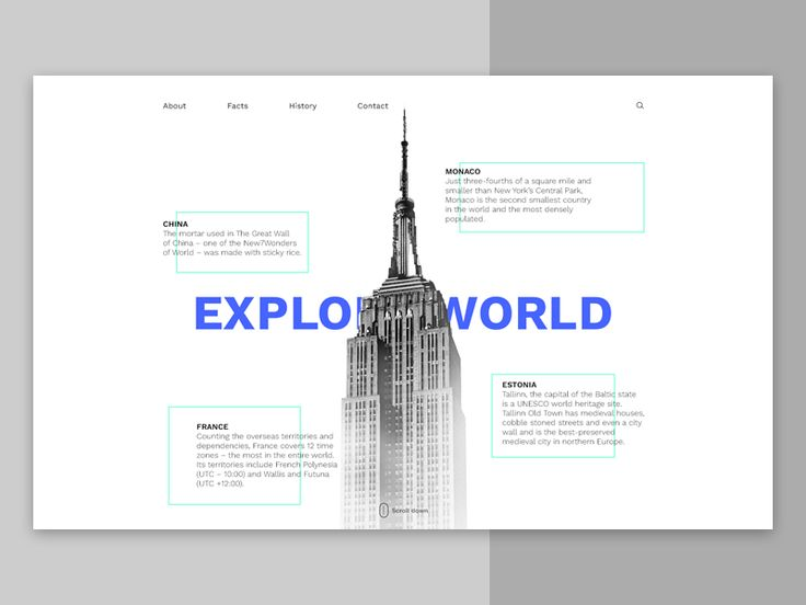 Explore World Header Idea by inthink.studio