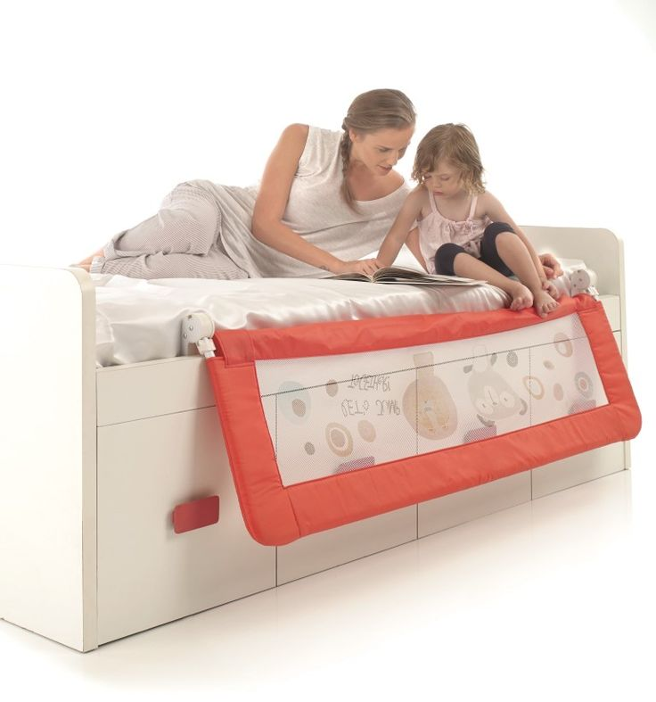 Barreras de cama abatibles + plegables 150 cm