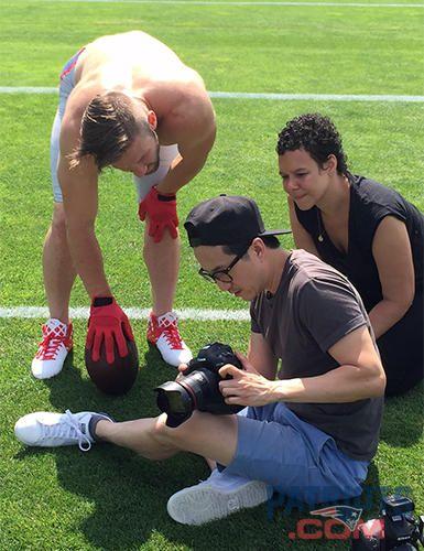 Behind the scenes: Julian Edelman models for Men's Health | New England Patriots