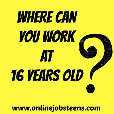 jobs for teens 16