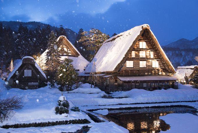 I'm dreaming of snowy Shirakawago Japan for the holidays! ⛩日本の冬が満喫できる!白川郷のライトアップが美し過ぎる ⛩#Japan #travel #history