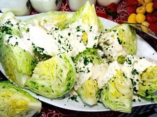 PW's Homemade Ranch Dressing with Iceberg Wedge: Recipe, Iceberg Wedge, Food, Pioneer Woman, Salad Dressings, Homemade Ranch, Yummy, Ranch Dressing