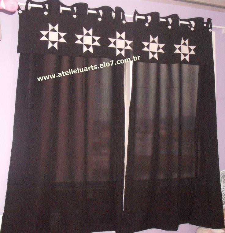 17 melhores imagens sobre cortinas cozinha quarto - Apliques para cortinas ...