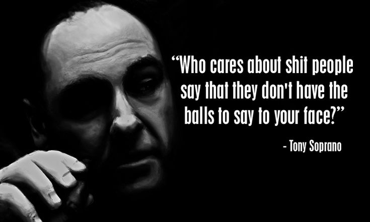 """Real Talk"" from one of the Realist ever on the tube------RIP James Gandolfini aka Tony Soprano"
