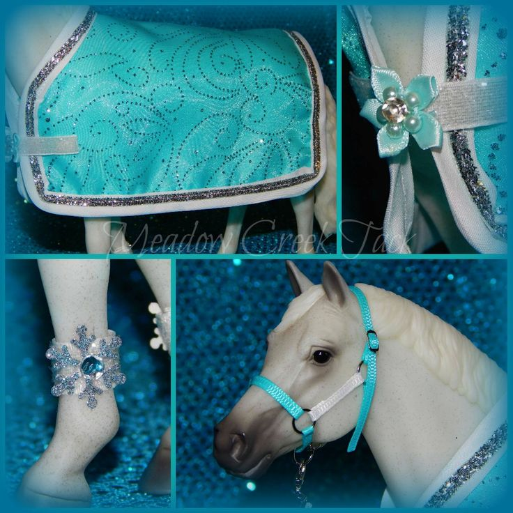 Frozen inspired Breyer Horse or Model Horse Blanket - I love this!!!