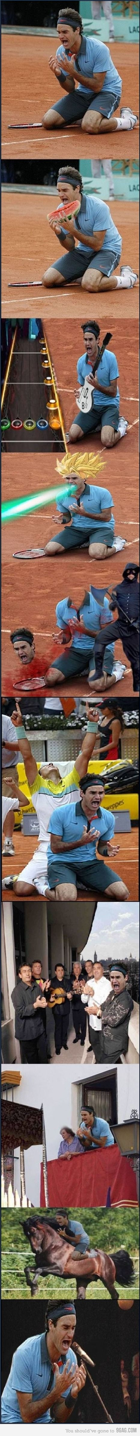 Funny, this Federer dude.