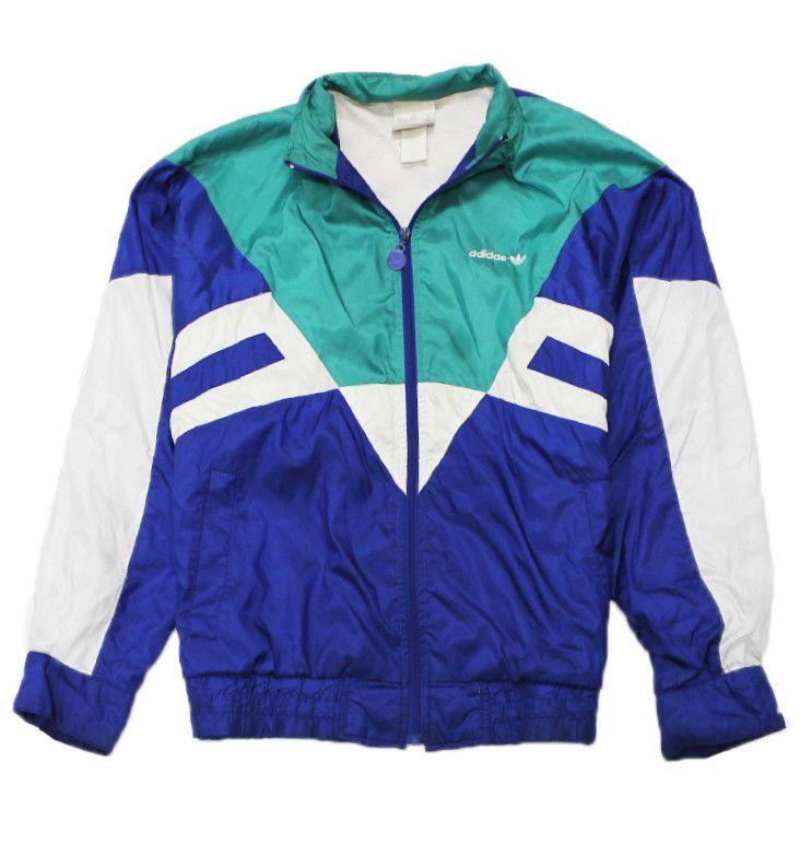 adidas 90s jacket. vintage 90s adidas windbreaker jacket mens size medium $40.00