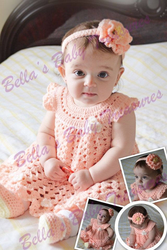Peach outfit for baby girl by BellasBabyTreasures on Etsy