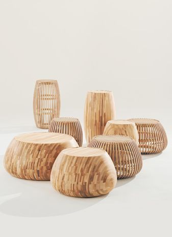 :: FURNITURE :: adore these sculptural pieces.  Motley II pieces designed by London-based, Samuel Chan of Channels. These are now being showcased at this years 100% Design London. #furniture #wood
