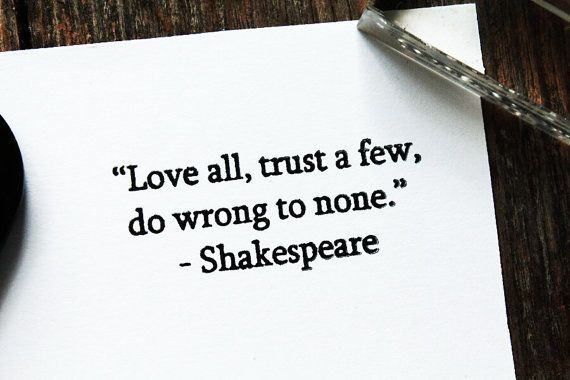 William Shakespeare Quote Stamp  Rubber Quote Stamp by QuoteStamps, $15.00
