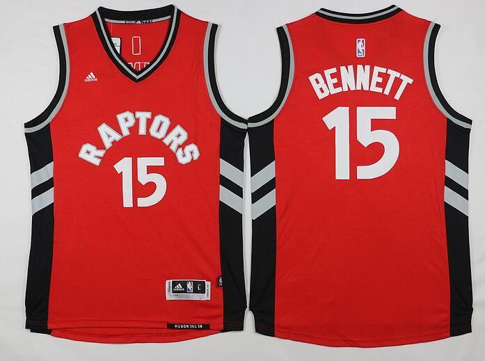 Men's Toronto Raptors #15 Anthony Bennett Revolution 30 Swingman 2014 New Red Jersey