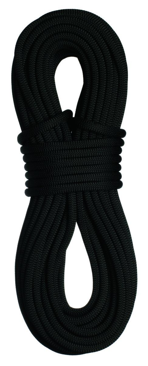 """Sterling Rope 7/16"""" SuperStatic2 Climbing Rope, Black, 61m. 100% Nylon static rope. Made in the USA. Superior handling characteristics. Optimal Elongation. Improved gear compatibility."""