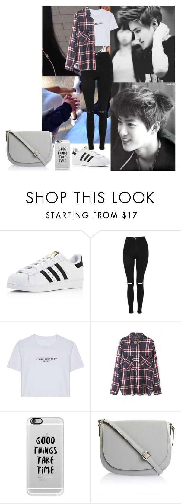 """""""Coffee date with Suho"""" by joanaamarinho ❤ liked on Polyvore featuring adidas, Topshop, WithChic, Casetify, kpop, EXO and Suho"""