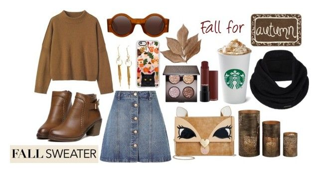 """Fall for Autumn"" by emiliamariaa on Polyvore featuring Toast, Anita & Green, Betsey Johnson, Laura Mercier, Casetify, Bliss Studio, Home Decorators Collection and prAna"
