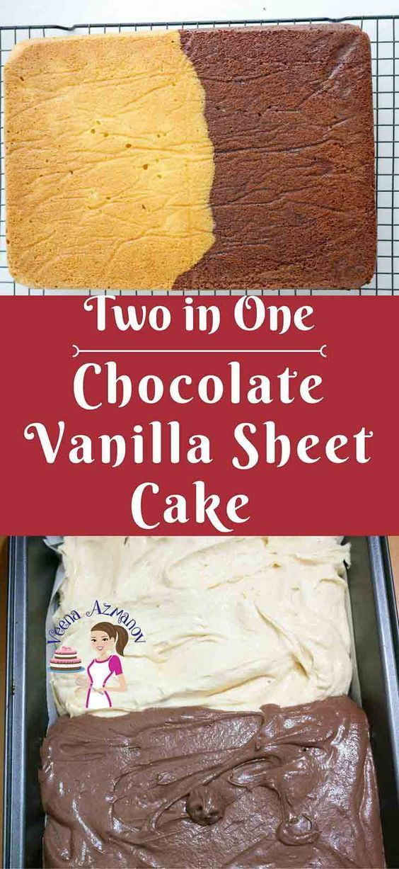 Having more than one flavor is always a treat in cakes just like this chocolate vanilla sheet cake. It simple, easy but just one recipe that can be divided to create two different flavors. Here I am making half Chocolate Sheet and half  Vanilla Sheet but the same can be applied to many other flavors and variations.