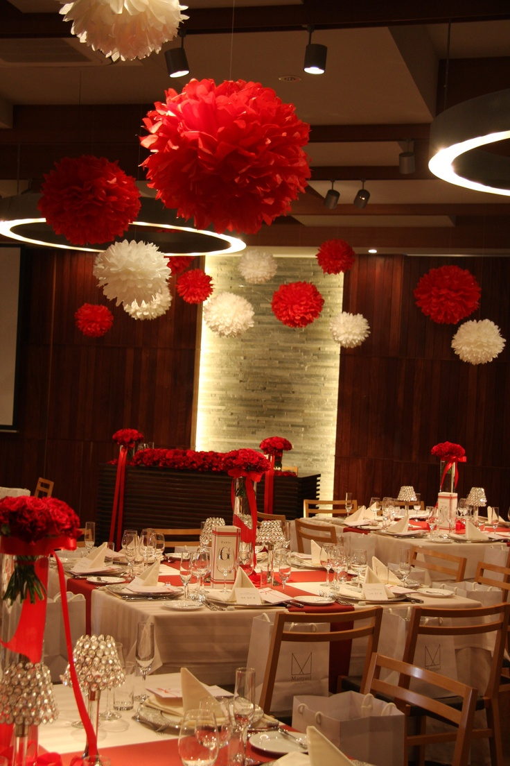 Red White Wedding Decorations