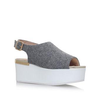 Bells Grey Flatform Sandals from KG Kurt Geiger