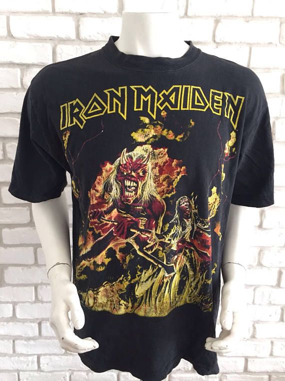 #vintage #ironmaiden #iron #maiden #tshirt #shirt #gift #rockband #tee #tees #true https://www.etsy.com/listing/527352736/1985-iron-maiden-vintage-extremely-rare?ref=shop_home_active_4