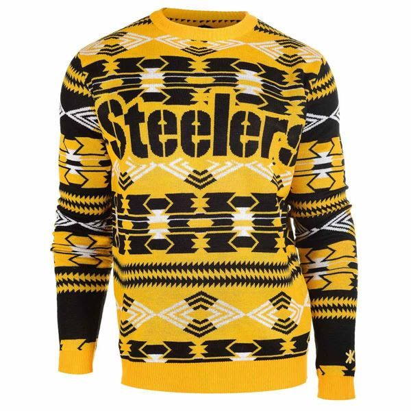 picture of pittsburgh steelers aztec crewneck sweater - Pittsburgh Steelers Merchandise