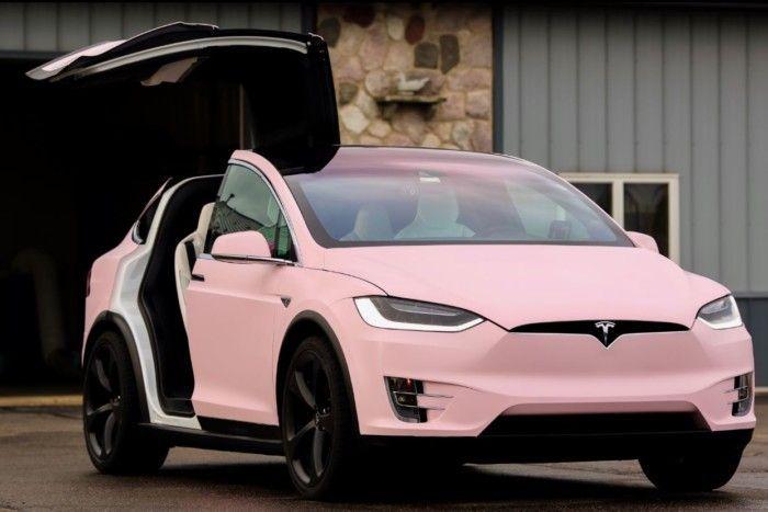 Verity, The Bubblegum Pink #Tesla Model X luxurytrump.com/...