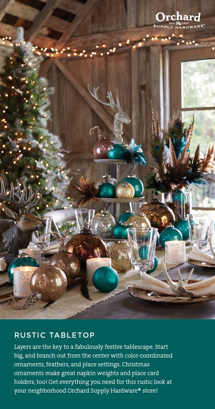 Delight your guests with a rustic holiday
