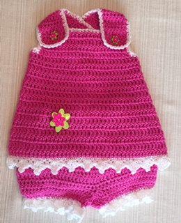Crochet Sunsuit Lauren NB PATTERN