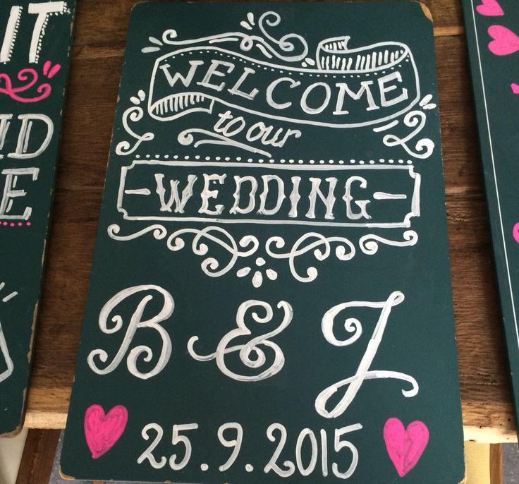 Chalkboard wedding - krijtbord bruiloft