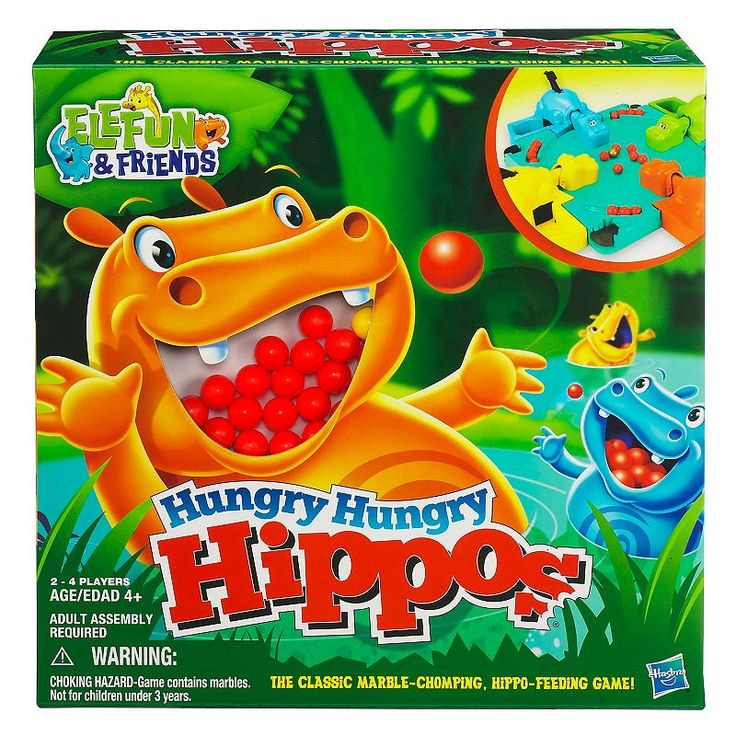 Hungry Hungry Hippos Game by Hasbro, Multicolor
