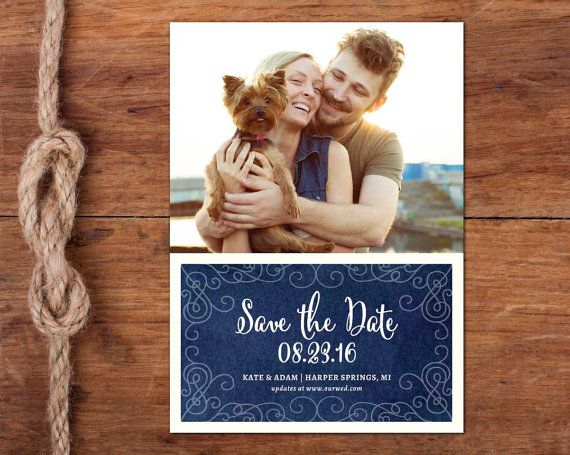 Dreamy Photo Save-the-Date Card 5x7 casual by studiofortydesign