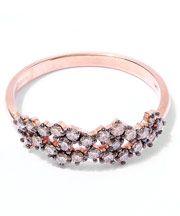 Rose Gold Champagne Diamond Starburst Ring
