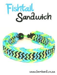 Fishtail Sandwich Loom Band Bracelet Tutorial, instructions and videos on hundreds of loom band designs. Shop online for all your looming supplies, delivery anywhere in SA. .