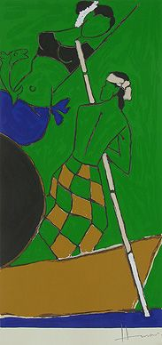 Maqbool Fida Husain - Folklore Kerala - V @ Serigraphs III: M F Husain | StoryLTD I #Indianart #MFHusain #Modern art